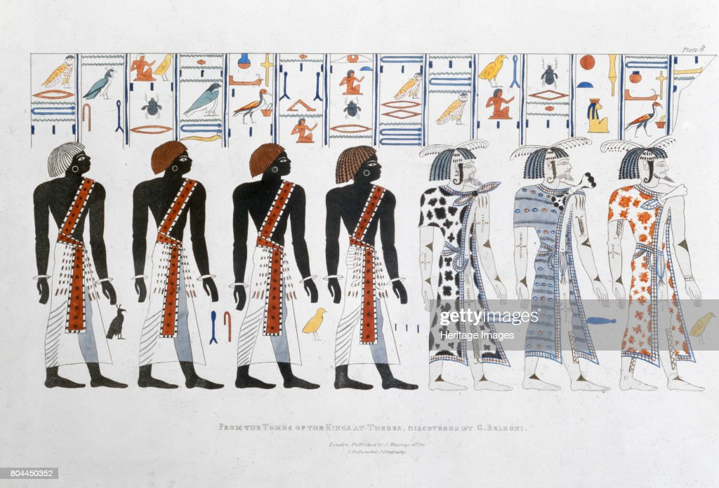 Hieroglyphics From The Tombs Of The Kings At Thebes Discovered By G Belzoni' 1820-1822 : ニュース写真