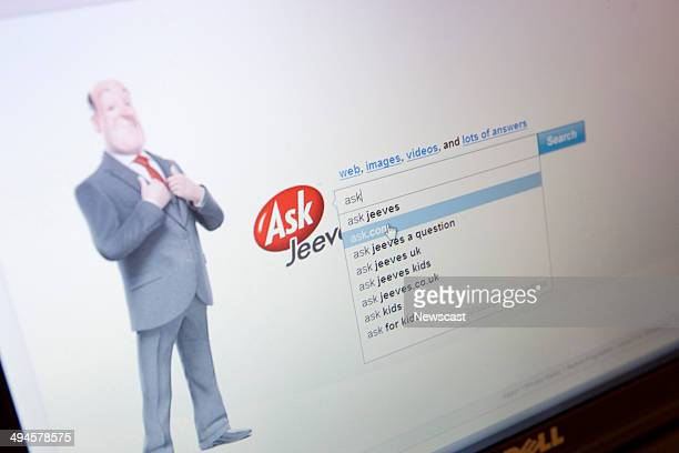 Illustrative image of the Askcom search engine website with the recently reintroduced Jeeves