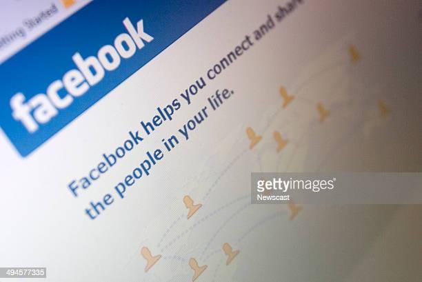 Illustrative image of the Facebook website