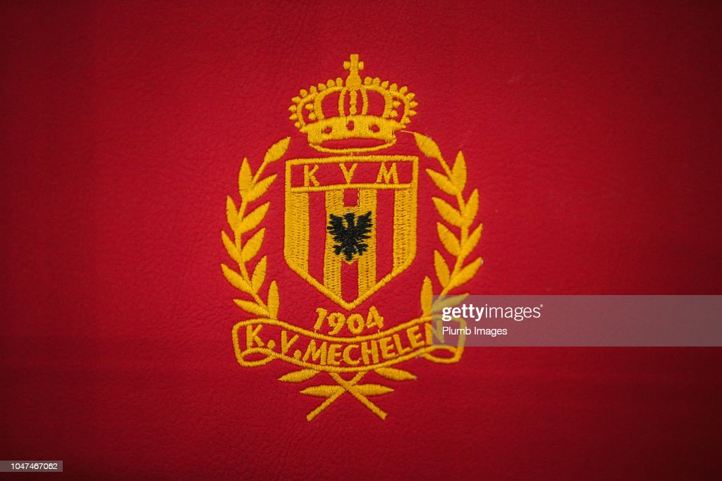 Illustrative Picture Showing The Emblem Of Kv Mechelen Ahead Of The News Photo Getty Images