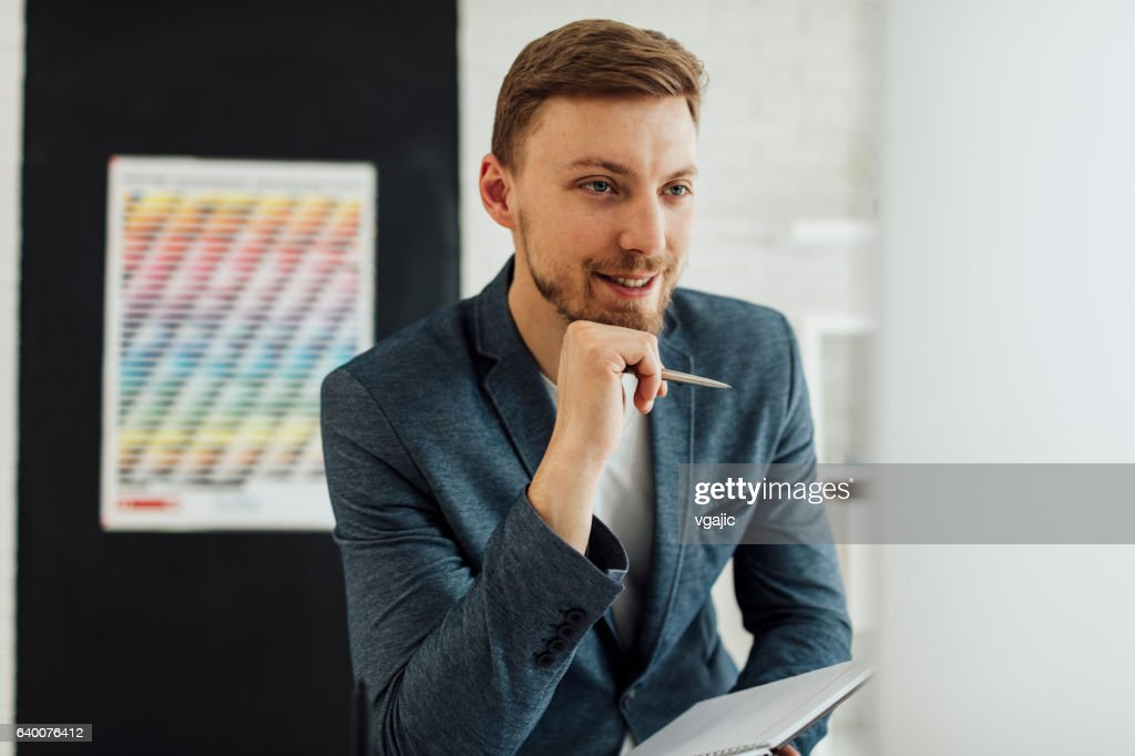Illustrator At Work Stock Photo | Getty Images