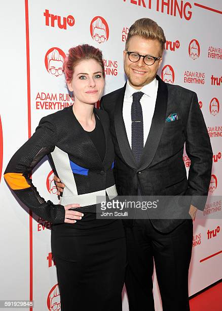 "Illustrator Lisa Hanawalt and Creator and host Adam Conover attend truTV's ""Adam Ruins Everything"" Premiere Screening Event on August 18 at The..."