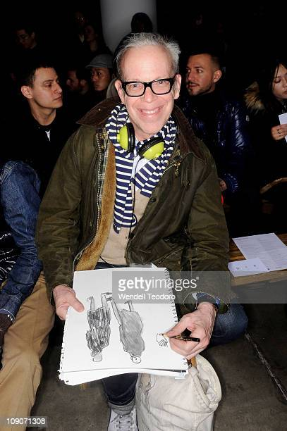 Illustrator Richard Haines attend the Patrik Ervell Fall 2011 fashion show during MercedesBenz Fashion Week at Milk Studios on February 12 2011 in...