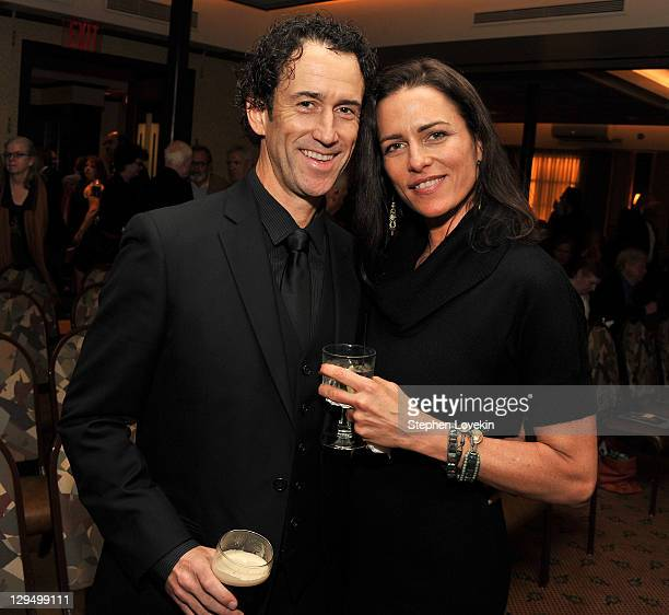 Illustrator Tim O'Brien and wife Elizabeth Parisi attend the presentation of the 2011 Eugene O'Neill Lifetime Achievement Award at The Manhattan Club...