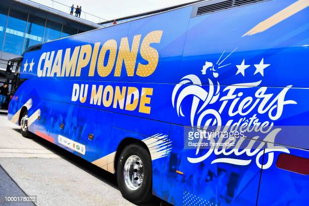 Illutration New Bus during the arrival at Airport Roissy Charles de Gaulle on July 16 2018 in Paris France