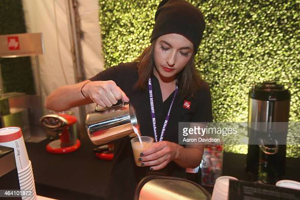 Illy coffee being prepared at Seminole Hard Rock Hotel & Casino's Meatopia: The Q Revolution presented by Creekstone Farms hosted by Guy Fieri...
