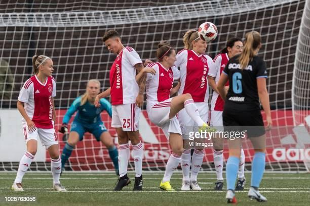 Ilna Reetta Salmi of Ajax women KayLee Sanders of Ajax women Ellen Jansen of Ajax women Kelly Zeeman of Ajax women Marjolijn van den Bighelaar of...