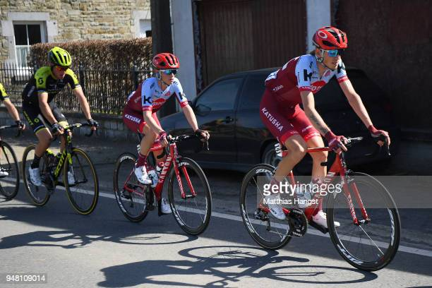 Ilnur Zakarin of Rusia and Team KatushaAlpecin / during the 82nd La Fleche Wallonne 2018 a 1985km race from Seraing to Mur De Huy on April 18 2018 in...