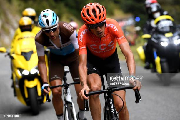 Ilnur Zakarin of Russia and CCC Team / Nans Peters of France and Team Ag2R La Mondiale / Breakaway / during the 107th Tour de France 2020, Stage 8 a...