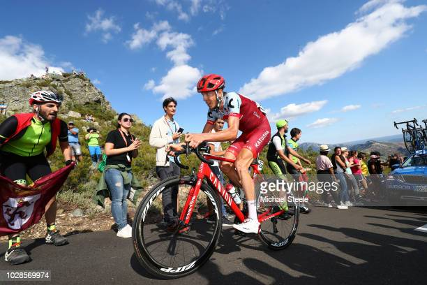 Ilnur Zakarin of Russia and Team Katusha Alpecin / Alto de la Camperona / Fans / Public / during the 73rd Tour of Spain 2018, Stage 13 a 174,8km...