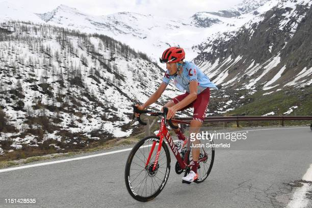 Ilnur Zakarin of Russia and Team Katusha Alpecin / Ceresole Reale / Landscape / Mountains / Snow / during the 102nd Giro d'Italia 2019 Stage 13 a...