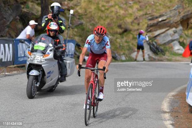 Ilnur Zakarin of Russia and Team Katusha Alpecin / during the 102nd Giro d'Italia 2019 Stage 13 a 196km stage from Pinerolo to Ceresole Reale 2247m /...