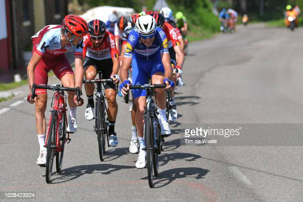 Ilnur Zakarin of Russia and Team Katusha Alpecin / Laurens De Plus of Belgium and Team Quick-Step Floors / during the 73rd Tour of Spain 2018, Stage...