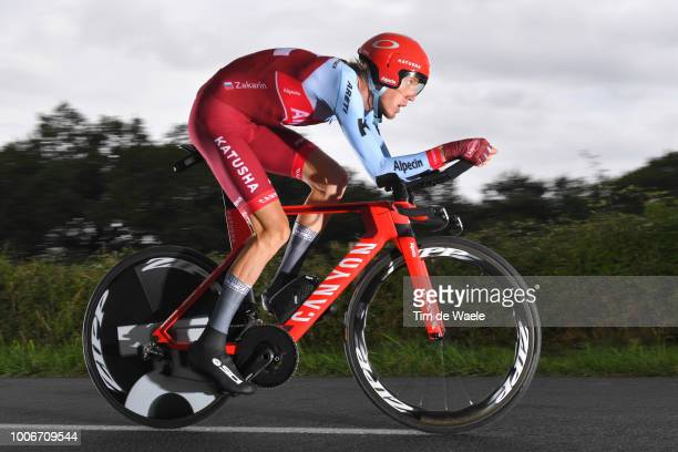 Ilnur Zakarin of Russia and Team Katusha / during the 105th Tour de France 2018 Stage 20 a 31km Individual Time Trial stage from SaintPeesurNivelle...