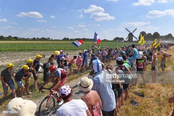 Ilnur Zakarin of Russia and Team Katusha / Peloton / Templeuve / Public / Fans / Landscape / during the 105th Tour de France 2018 Stage 9 a 1565...