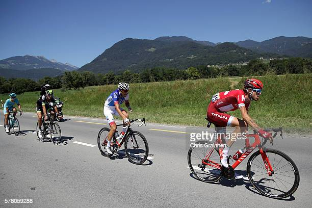 Ilnur Zakarin of Russian riding for Team Katusha rides in the breakaway during stage seventeen of the 2016 Le Tour de France, a 184.5km stage from...