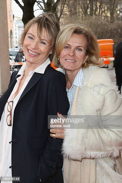 Ilona Gruebel and Andrea L´Arronge attend the 35 years anniversary of the tv show 'Soko 5113' on January 30 2013 in Munich Germany