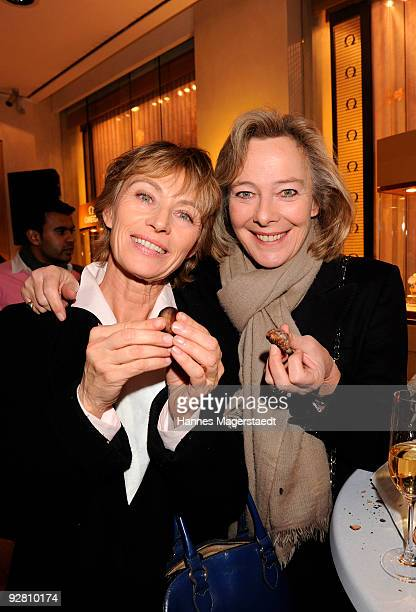 Ilona Gruebel and Princess Uschi zu Hohenlohe attend the 'Omega Winterzauber' Party at the Omega Store on November 5 2009 in Munich Germany
