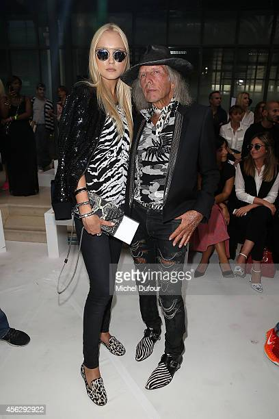 Ilona Guzarevich and James Goldstein attend the John Galliano show as part of the Paris Fashion Week Womenswear Spring/Summer 2015 on September 28...