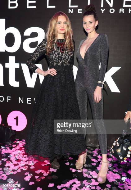 Ilona Matsour and Betty Taube during the Maybelline Show 'Urban Catwalk Faces of New York' at Vollgutlager on January 18 2018 in Berlin Germany