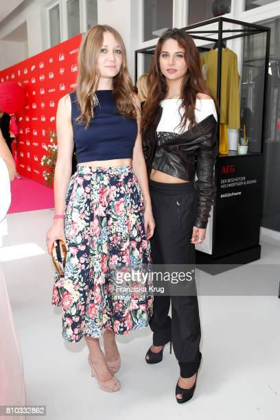 Ilona Matsour and Carina Zavline attend the Gala Fashion Brunch during the MercedesBenz Fashion Week Berlin Spring/Summer 2018 at Ellington Hotel on...