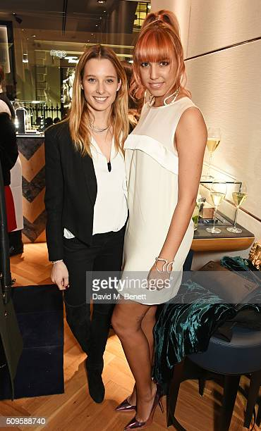 Ilona Smet and Amber Le Bon attend the APM Monaco flagship store opening on South Molton Street on February 11 2016 in London England