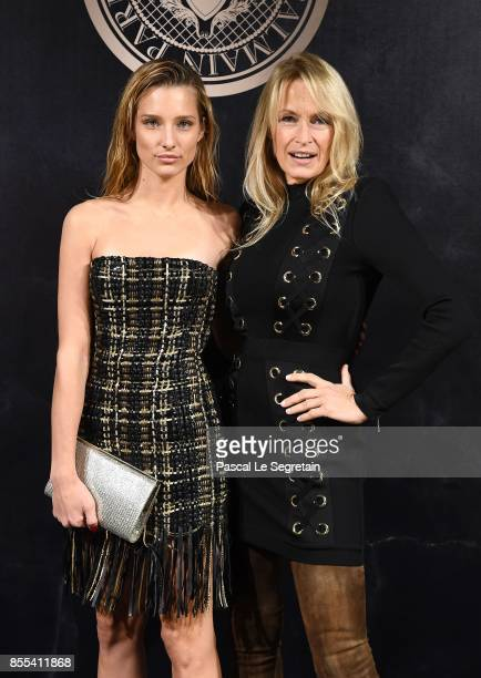 Ilona Smet and Estelle Lefebure attend the L'Oreal Paris X Balmain event as part of the Paris Fashion Week Womenswear Spring/Summer 2018 on September...