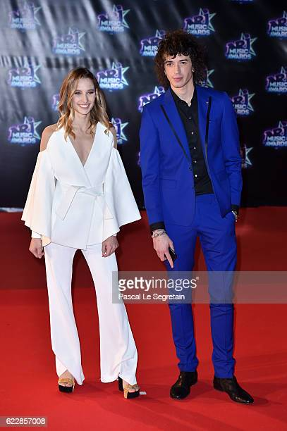 Ilona Smet and Julian Perretta attend the 18th NRJ Music Awards at Palais des Festivals on November 12 2016 in Cannes France