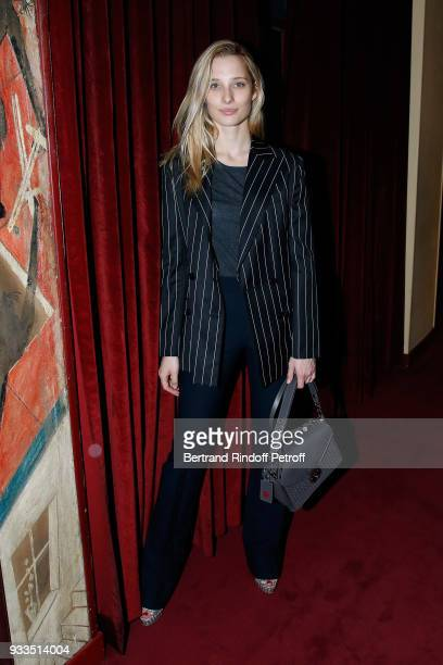 Ilona Smet attends Sylvie Vartan performs at Le Grand Rex on March 16 2018 in Paris France