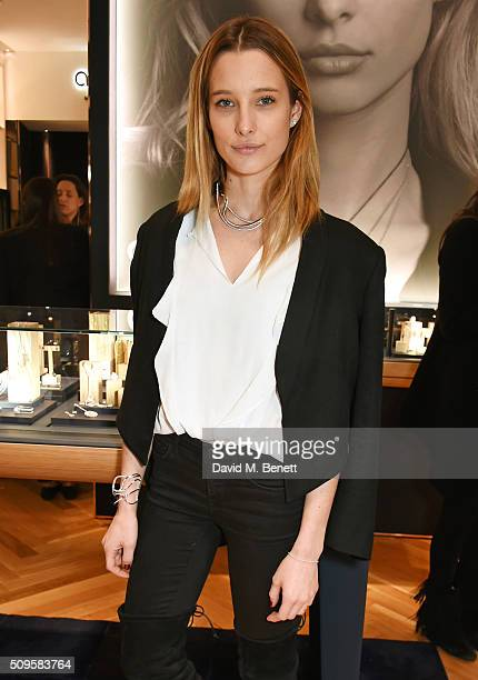 Ilona Smet attends the APM Monaco flagship store opening on South Molton Street on February 11 2016 in London England