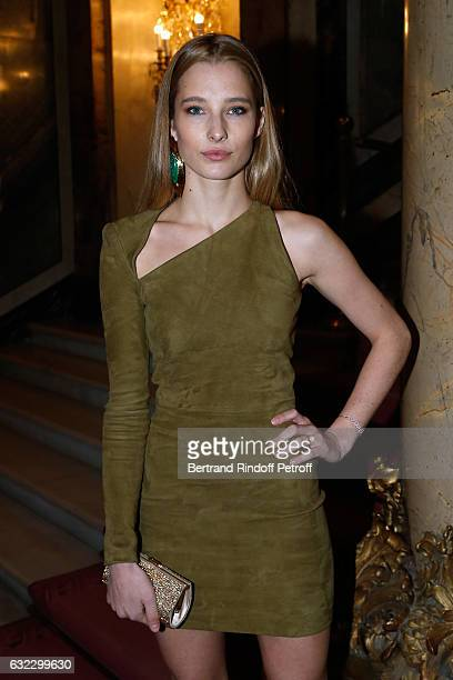 Ilona Smet attends the Balmain Menswear Fall/Winter 20172018 show as part of Paris Fashion Week on January 21 2017 in Paris France