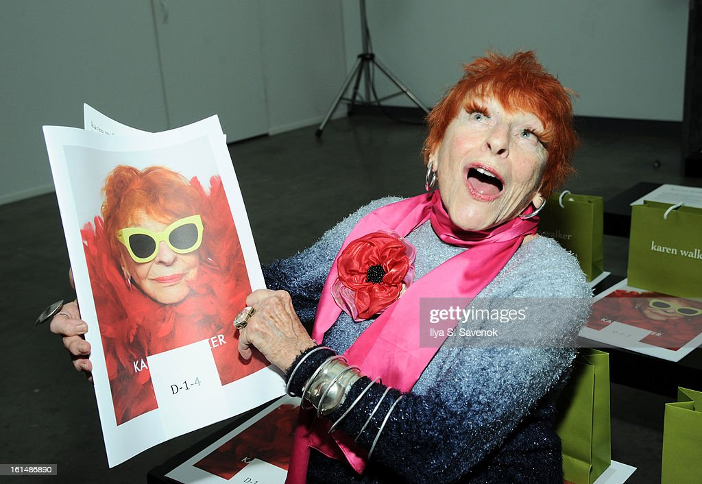 Ilona Smithkin attends the Karen Walker fall 2013 fashion show during Mercedes-Benz FAshion Week at Pier 59 on February 11, 2013 in New York City.