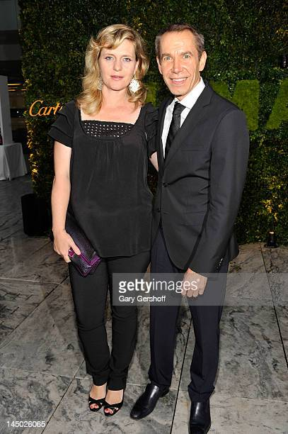 Ilona Staller and artist Jeff Koons attend the 2012 Party In The Garden Benefit at the Museum of Modern Art on May 22 2012 in New York City