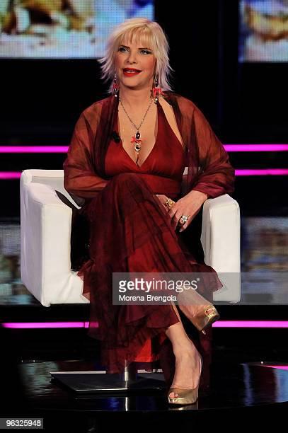 Ilona Staller during the Chiambretti night Italian tv show on March 10 2009 in Milan Italy