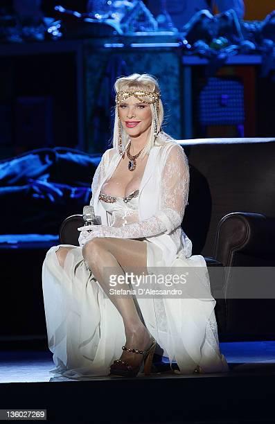 Ilona Staller known as Cicciolina attends 'Kalispera' Italian TV Show on December 16 2011 in Milan Italy