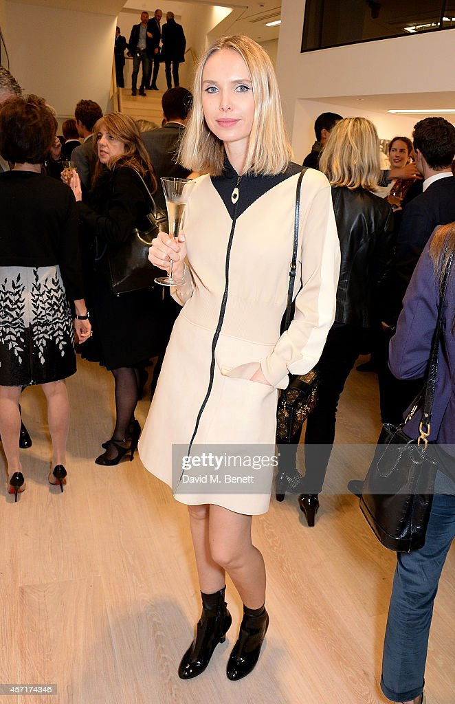 Ilona Stolie attends the launch party for Phillips European Headquarters at 30 Berkeley Square on October 13, 2014 in London, England.
