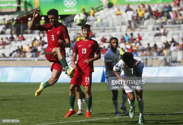 Ilori Tiago of Portugal controls the ball during the Men's Group D match between Algeria and Portugal on Day 5 of the Rio2016 Olympic Games at...