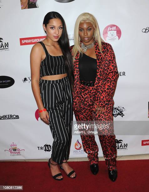 Ilove'a Brittingham and Tyeler Reign attend Season 5 Premiere For Lifetime's The Rap Game Hosted By Tyeler Reign held at CTRL Collective on January...