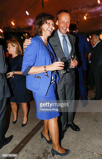 Ilse Aigner and Friedrich Merz attend the BILD100 event on September 06 2016 in Berlin Germany