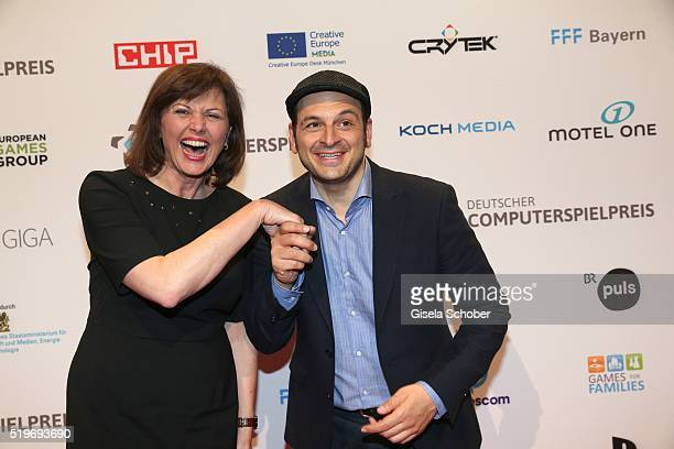 Ilse Aigner and Kaya Yanar during the German Computer Games Award 2016 at BMW World on April 7, 2016 in Munich, Germany.