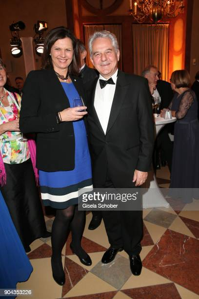 Ilse Aigner and Kurt Faltlhauser during the new year reception of the Bavarian state government at Residenz on January 12 2018 in Munich Germany