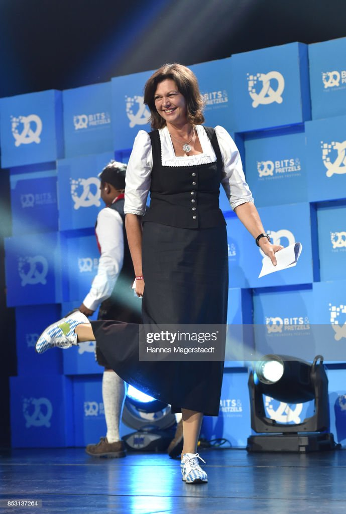 Ilse Aigner during the 'Bits & Pretzels Founders Festival' at ICM Munich on September 24, 2017 in Munich, Germany.