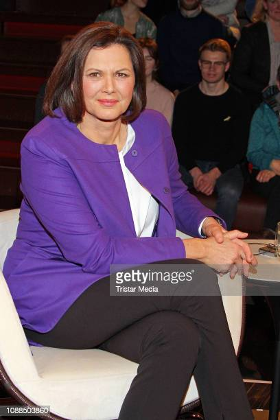 Ilse Aigner during the 'Markus Lanz' TV show on January 23, 2019 in Hamburg, Germany.