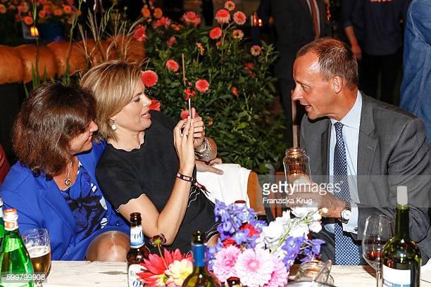 Ilse Aigner Julia Kloeckner and Friedrich Merz attend the BILD100 event on September 06 2016 in Berlin Germany