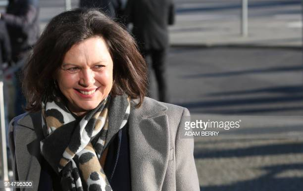 Ilse Aigner politician of the conservative Christian Social Union arrives for further talks to form a new government in Berlin on February 6 2018 /...