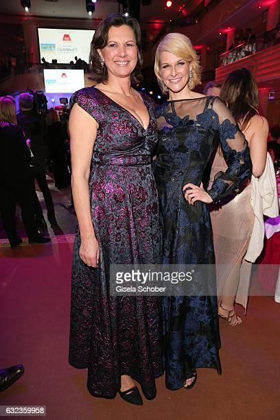 Ilse Aigner wearing a dress by Talbot Runhof 'dresscoded' Natascha Gruen during the 44th German Film Ball 2017 party at Hotel Bayerischer Hof on...