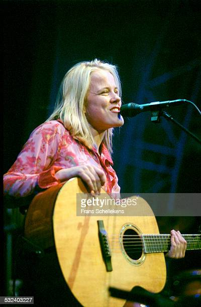 Ilse de Lange, guitar and vocals, performs at the Paradiso on April 9th 2001 in Amsterdam, Netherlands.