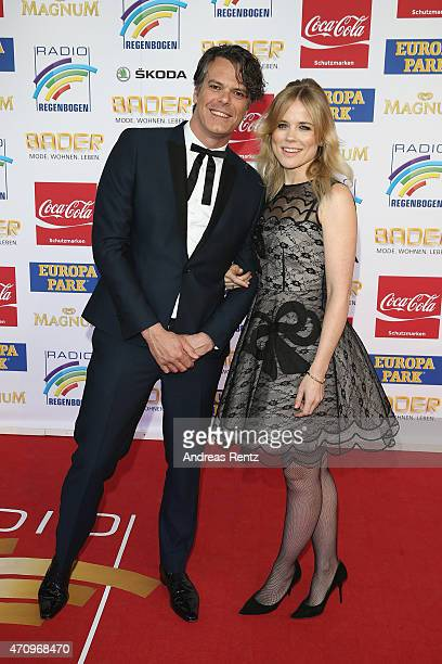 Ilse DeLange and Waylon of the band The Common Linnets attend the Radio Regenbogen Award 2015 at Europapark on April 24, 2015 in Rust, Germany.