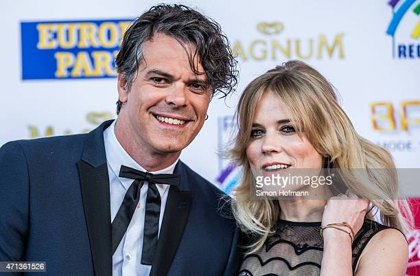 Ilse DeLange and Waylon of the band The Common Linnets attend the Radio Regebenbogen Award Show 2015 at Europapark on April 24 2015 in Rust Germany