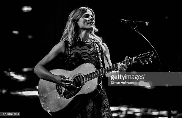 Ilse DeLange of the band The Common Linnets performs during the Radio Regebenbogen Award Show 2015 at Europapark on April 24 2015 in Rust Germany